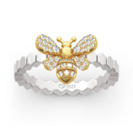 Bee Design Sterling Silver Ring