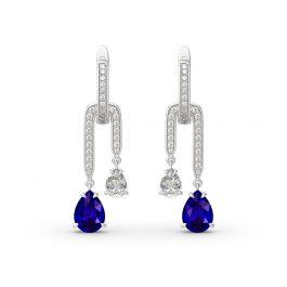 Pear Shape Pendant Sterling Silver Earrings