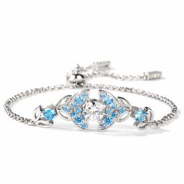 Butterfly Round Cut Sterling Silver Bracelet