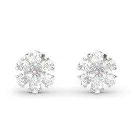 Jeulia Elegant Flower Sterling Silver Earrings