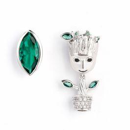 """""""I am Groot"""" Tree Man Asymmetric Sterling Silver Earrings"""