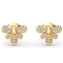 Jeulia Bee Design Sterling Silver Earrings