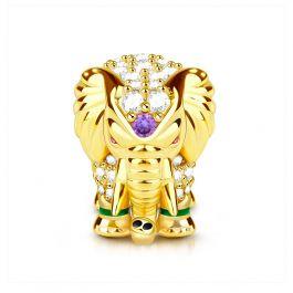 """Lucky Elephant"" Thai Elephant Sterling Silver Charm"