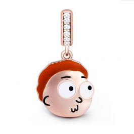 """""""My Life has been a Lie"""" Morty Smith Sterling Silver Dangle Charm"""