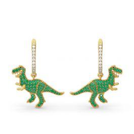 Prehistoric Glamour Dinosaur Sterling Silver Earrings