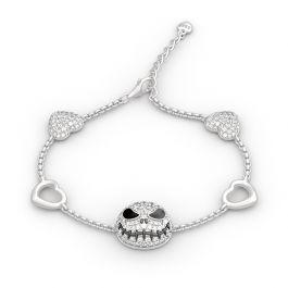 Jeulia The Nightmare Before Christmas Jack Skellington Sterling Silver Bracelet