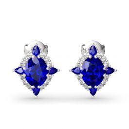 Jeulia Halo Oval Cut Sterling Silver Earrings