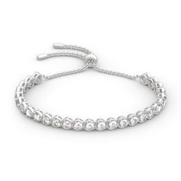 "Jeulia ""Always in My Heart"" Sterling Silver Bracelet"