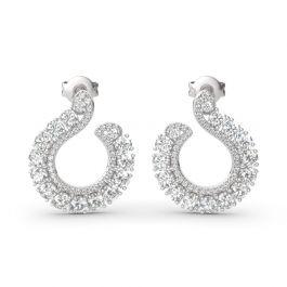 Jeulia Classic Sterling Silver Hoop Earrings