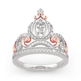 "Jeulia ""Cinderella's Dream"" Pumpkin Carriage Sterling Silver Ring"