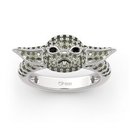 "Jeulia ""Baby Master"" Sterling Silver Ring"