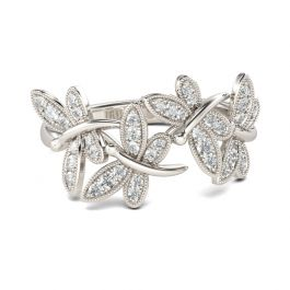 Dragonfly Sterling Silver Band