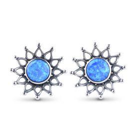 Sunflower Opal Stud Earrings