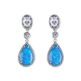 Dreamlike Blue Opal Earrings
