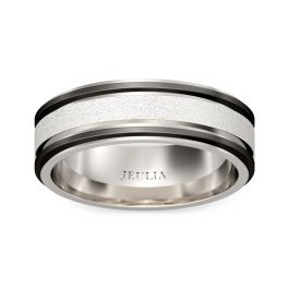Two Tone Frosted Stainless Steel Men's Band