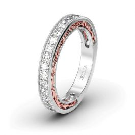 Scrollwork Sterling Silver Women's Band