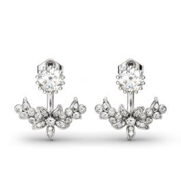 Vintage Flower Sterling Silver Ear Jackets