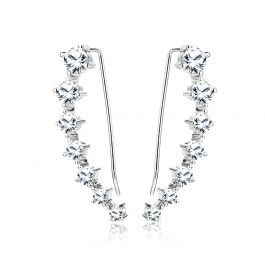 Simple Classic Sterling Silver Earrings Climbers