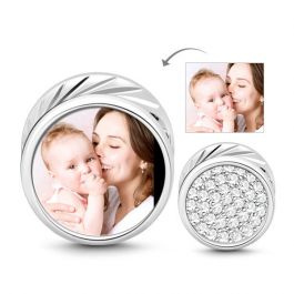 Memory Photo Charm Sterling Silver