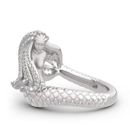 """Goddess of the Sea"" Sterling Silver Mermaid Ring"