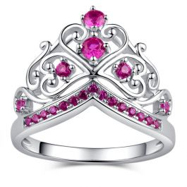 Jeulia Crown Promise Ring