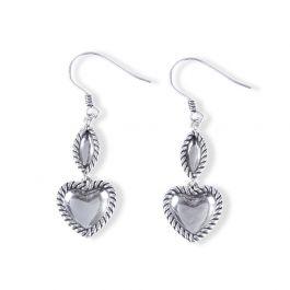 Rope Heart Earrings