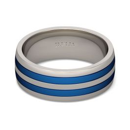 Simple Two Tone Stainless Steel Men's Band
