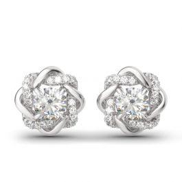 Jeulia Knot of Love Sterling Silver Stud Earrings