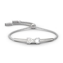 Jeulia Two Heart Knot Bracelet
