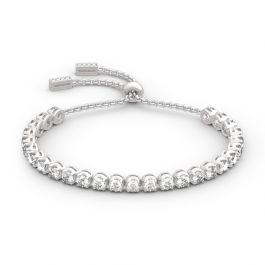 Jeulia Classic Round Cut Sterling Silver Bolo Tennis Bracelet