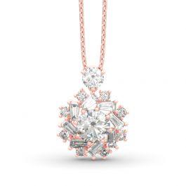 Jeulia Sunshine Round Cut Sterling Silver Necklace
