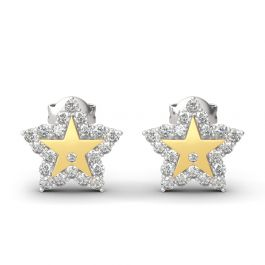 """A Star Is Born"" Sterling Silver Engraved Earrings"