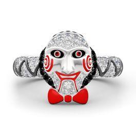 """""""Jigsaw Killer's Mask """"Sterling Silver Ring"""