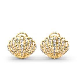 Sea Shell Sterling Silver Stud Earrings