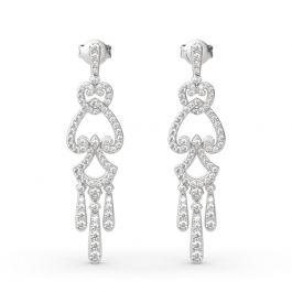 Chandelier Sterling Silver Drop Earrings