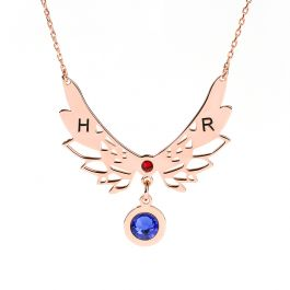Angle Wings Personalized Sterling Silver Necklace