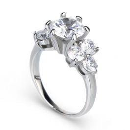 Cluster Sterling Silver Ring