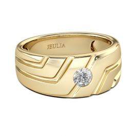 Jeulia Asymmetric Men's Ring