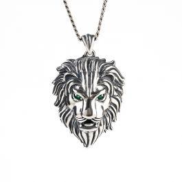 Jeulia Lion Sterling Silver Men's Necklace