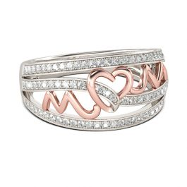 Mom's Heartbeat Sterling Silver Band