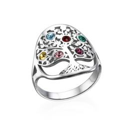 Family Tree Birthstone Ring