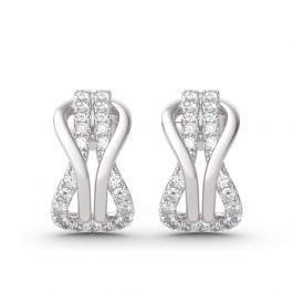 Infinity Love Sterling Silver Earrings