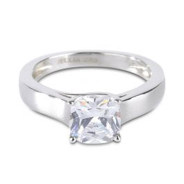 Cushion Cut Sterling Silver Ring