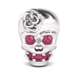 Cute Skull Charm Sterling Silver