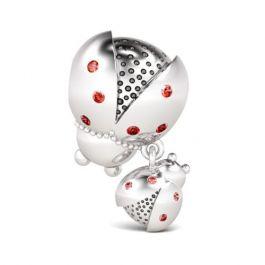 Cute Ladybird Charm Sterling Silver