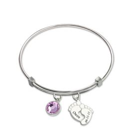 Baby Feet Bangle Sterling Silver