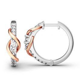 Jeulia Never Apart Hoop Earrings