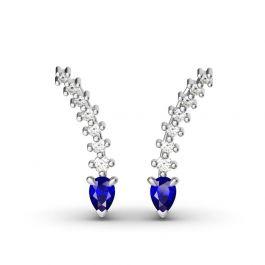 Jeulia Royal Blue Climber Earrings