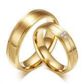 Jeulia Titanium Steel Couple Rings