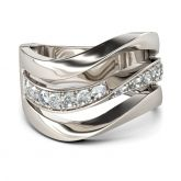 Curving Sterling Silver Cocktail Ring